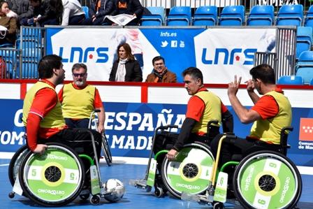 Entrenamiento de fútbol en silla