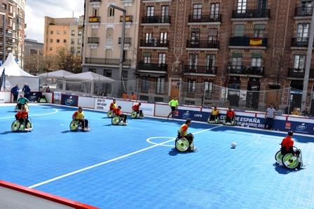 Presentación de fútbol en silla Madrid